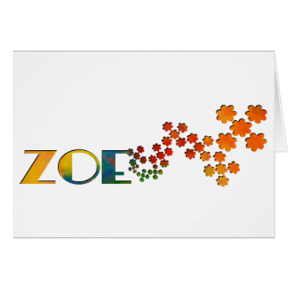The Name Game - Zoe Card