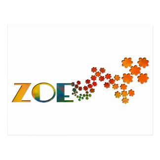 The Name Game - Zoe Postcard
