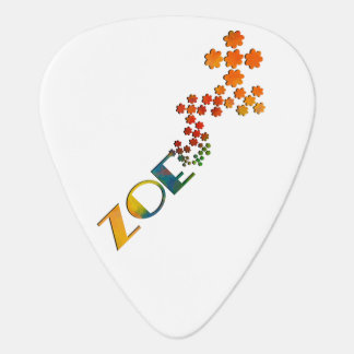 The Name Game - Zoe with some color Guitar Pick