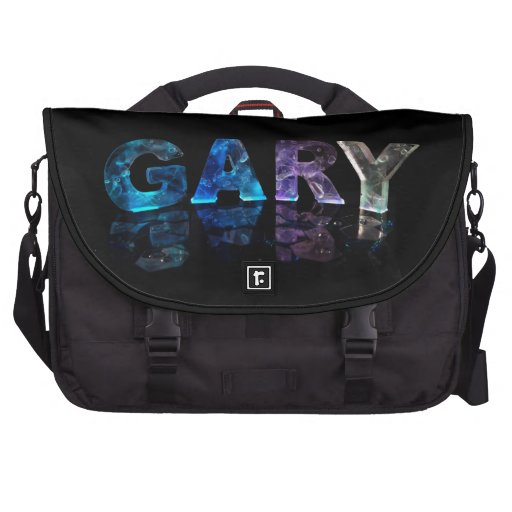 The Name Gary in 3D Lights (Photograph) Commuter Bags