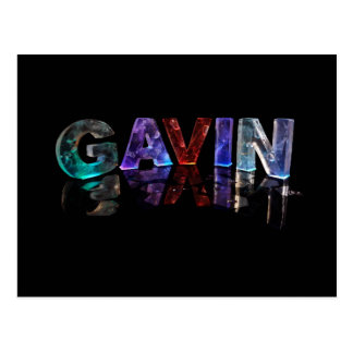The Name Gavin in 3D Lights (Photograph) Postcard