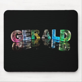 The Name Gerald in 3D Lights (Photograph) Mouse Pad