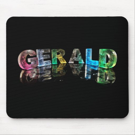 The Name Gerald in 3D Lights (Photograph) Mousemat