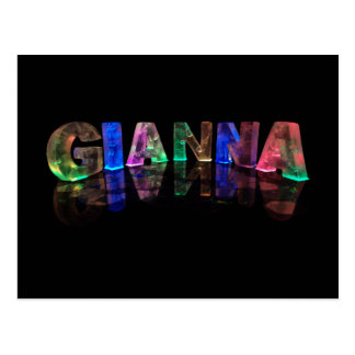 The Name Gianna in 3D Lights (Photograph) Postcard