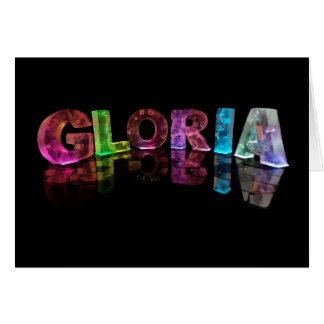 The Name Gloria in 3D Lights (Photograph) Card