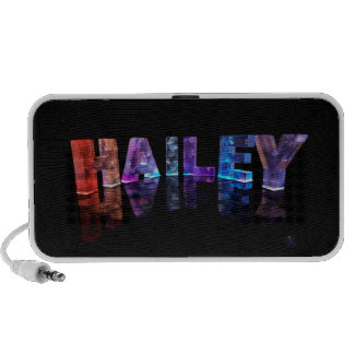 The Name Hailey in 3D Lights (Photograph) Speaker System