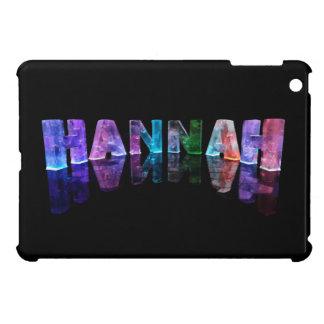 The Name Hannah in 3D Lights (Photograph) iPad Mini Case