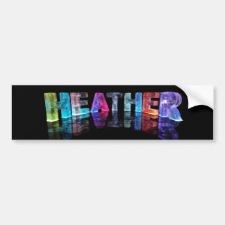 The Name Heather in 3D Lights (Photograph) Bumper Sticker