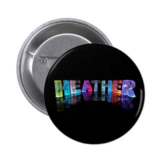 The Name Heather in 3D Lights (Photograph) Button
