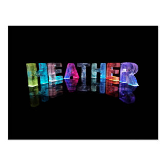 The Name Heather in 3D Lights (Photograph) Postcard