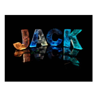 The Name Jack in 3D Lights Photograph Postcards