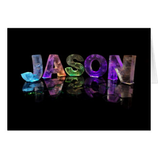 The Name Jason in 3D Lights (Photograph) Card