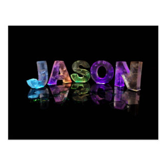 The Name Jason in 3D Lights (Photograph) Postcard