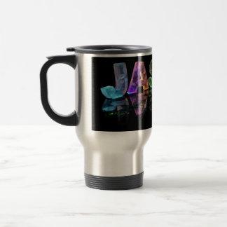 The Name Jason in 3D Lights (Photograph) Travel Mug