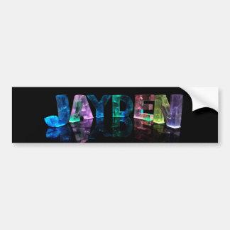 The Name Jayden in 3D Lights (Photograph) Car Bumper Sticker