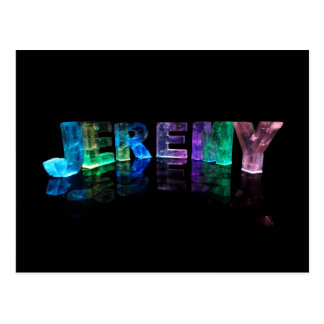 The Name Jeremy in 3D Lights (Photograph) Postcard