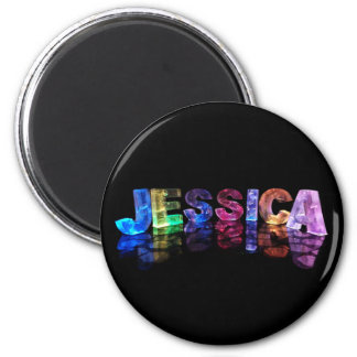 The Name Jessica in 3D Lights (Photograph) Magnet