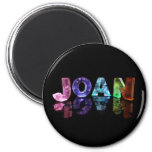 The Name Joan in 3D Lights (Photograph) Refrigerator Magnet