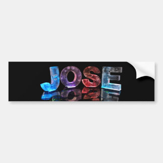 The Name Jose in 3D Lights (Photograph) Bumper Sticker