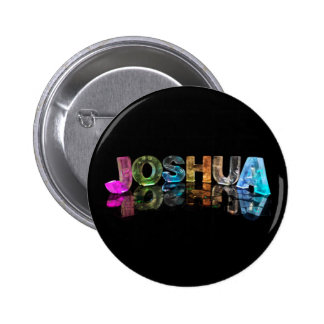 The Name Joshua in 3D Lights (Photograph) Button