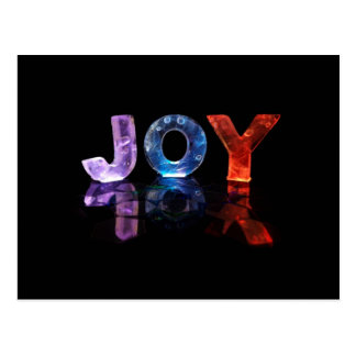 The Name Joy in 3D Lights (Photograph) Postcard