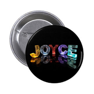 The Name Joyce in 3D Lights Photograph Pin