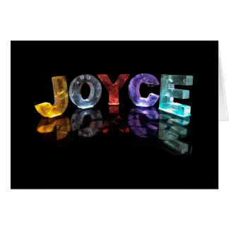 The Name Joyce in 3D Lights (Photograph) Card