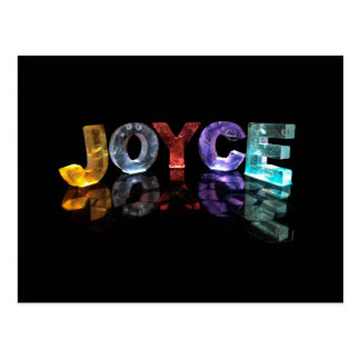 The Name Joyce in 3D Lights (Photograph) Postcard