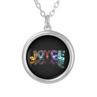 The Name Joyce in 3D Lights (Photograph) Silver Plated Necklace