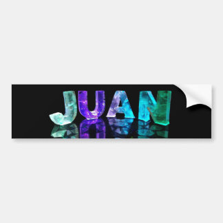 The Name Juan in 3D Lights (Photograph) Bumper Sticker