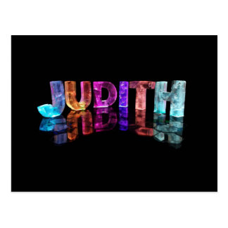 The Name Judith in 3D Lights (Photograph) Postcard