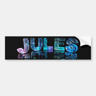 The Name Jules in 3D Lights (Photograph) Bumper Sticker