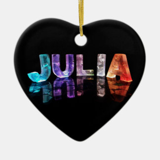 The Name Julia in 3D Lights (Photograph) Ceramic Ornament