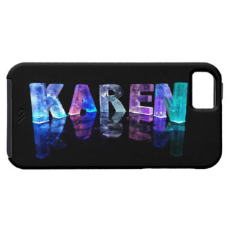 The Name Karen in 3D Lights (Photograph) iPhone 5 Cases