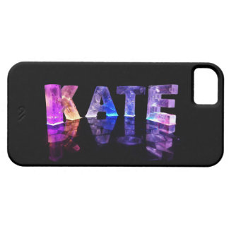 The Name Kate in 3D Lights (Photograph) iPhone 5 Cases