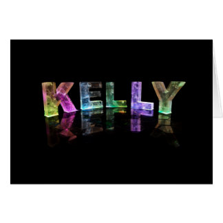 The Name Kelly in 3D Lights (Photograph) Card