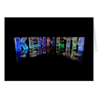 The Name Kenneth in 3D Lights (Photograph) Card