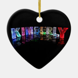 The Name Kimberly in 3D Lights (Photograph) Ceramic Ornament