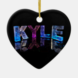 The Name Kyle in 3D Lights (Photograph) Ceramic Ornament