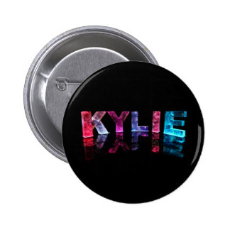 The Name Kylie in 3D Lights (Photograph) Buttons