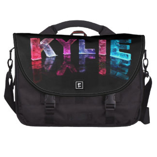 The Name Kylie in 3D Lights (Photograph) Bag For Laptop