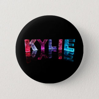 The Name Kylie in 3D Lights (Photograph) Pinback Button