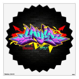 The name Layla in graffiti Wall Sticker