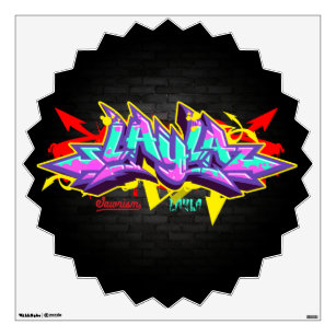 The Name Layla In Graffiti Wall Sticker