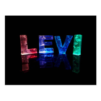 The Name Levi in 3D Lights (Photograph) Postcard