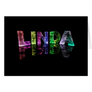 The Name Linda in 3D Lights (Photograph) Card