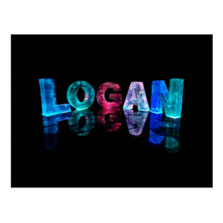 The Name Logan in 3D Lights (Photograph) Postcard