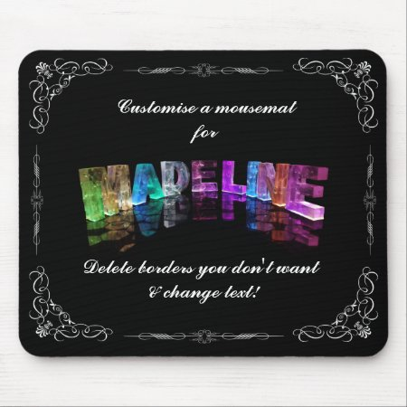 The Name Madeline in 3D Lights (Photograph) Mouse Mat