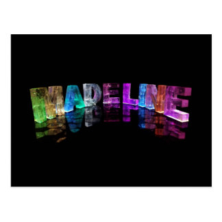 The Name Madeline in 3D Lights (Photograph) Postcard