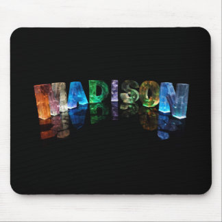 The Name Madison in 3D Lights (Photograph) Mouse Pad